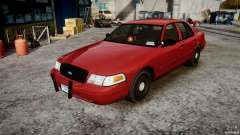 Ford Crown Victoria Detective v4.7 Emerglights red [ELS] для GTA 4