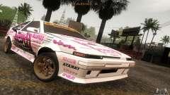 Toyota Corolla AE86 Hot Staff для GTA San Andreas