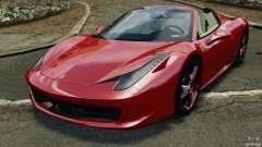 Ferrari 458 Spider 2013 v1.01 для GTA 4