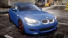 BMW M5 E60 2009 бирюзовый для GTA 4