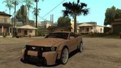 Ford Mustang GT серебристый для GTA San Andreas