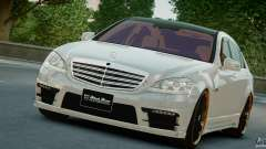 Mercedes-Benz S Class W221 Black Bison 2009 для GTA 4