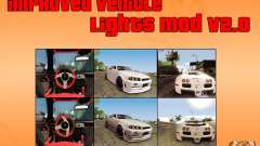 Improved Vehicle Lights Mod v2.0 для GTA San Andreas