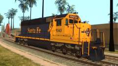 Локомотив SD 40 Santa Fe Blue/Yellow