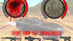 New HUD by shama123 для GTA San Andreas
