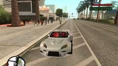 Honda S2000 белый для GTA San Andreas