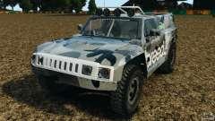Hummer H3 raid t1 чёрный для GTA 4