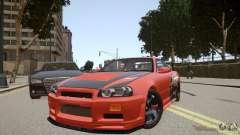 Nissan Skyline GT-R R34 Underground Style для GTA 4