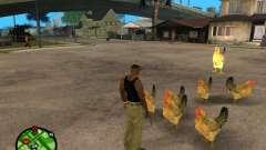 Куры в GTA San Andreas для GTA San Andreas