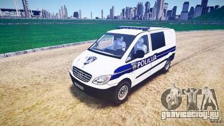 Mercedes Benz Viano Croatian police [ELS] для GTA 4