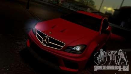 Mercedes Benz C63 AMG C204 Black Series V1.0 для GTA San Andreas