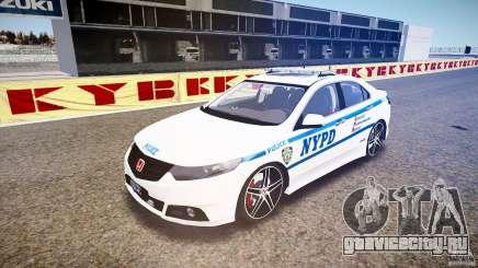 Honda Accord Type R NYPD (City Patro 1950l) [ELS] для GTA 4