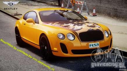 Bentley Continental SS 2010 ASI Gold [EPM] для GTA 4