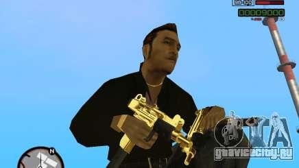 Micro Uzi Gold для GTA San Andreas