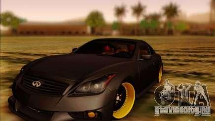 Infiniti G37 HellaFlush для GTA San Andreas