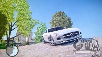 Mercedes-Benz SLS63 AMG белый для GTA 4
