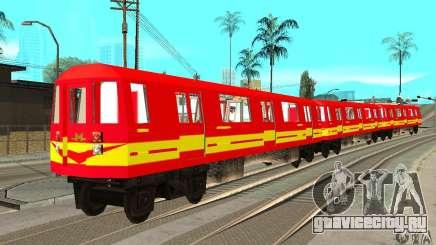 Liberty City Train Red Metro для GTA San Andreas