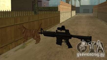 Кот вместо глушителя на M4 для GTA San Andreas