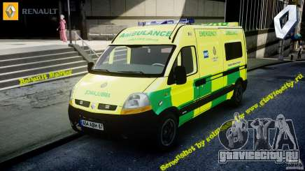 Renault Master 2007 Ambulance Scottish [ELS] для GTA 4