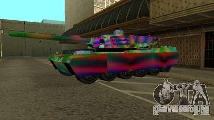 Веселенькая расцветка танка для GTA San Andreas