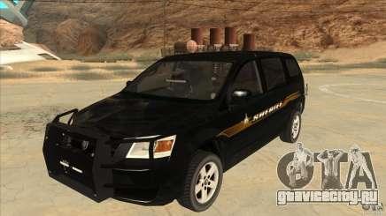 Dodge Caravan Sheriff 2008 для GTA San Andreas