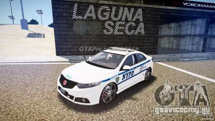 Honda Accord Type R NYPD (City Patrol 7605) [ELS] для GTA 4