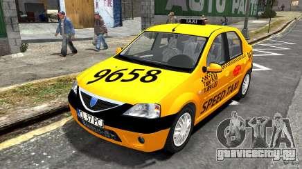 Dacia Logan Prestige Taxi для GTA 4