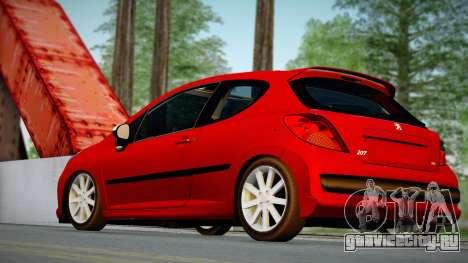 Peugeot 207 для GTA San Andreas вид слева