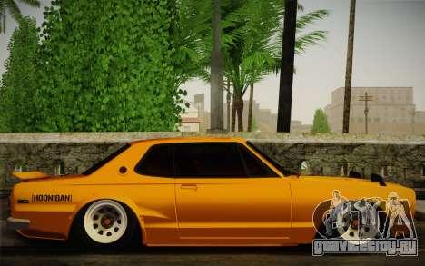 Nissan Skyline 2000GT-R Hoon для GTA San Andreas вид справа