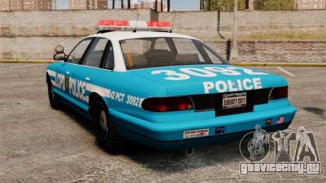 LCPD Police Cruiser для GTA 4 вид сзади слева