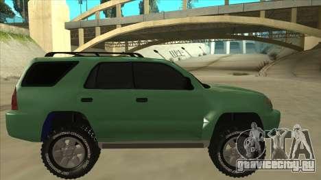 Toyota 4Runner 2009 v2 для GTA San Andreas вид сзади слева