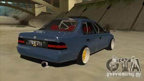 Toyota Corolla 1.6 1997 Hellaflush для GTA San Andreas вид справа