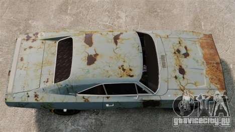 Dodge Charger RT 1969 ржавый v1.1 для GTA 4 вид справа