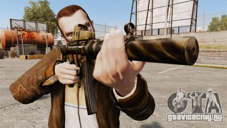 Пистолет-пулемёт MP5SD v3 для GTA 4 третий скриншот