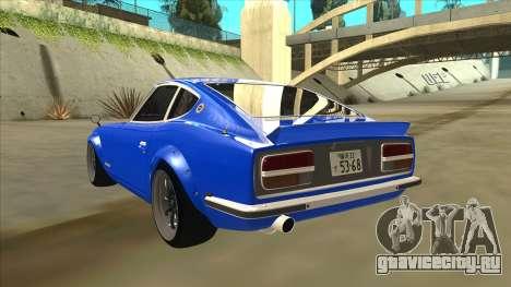 Nissan Wangan Midnight Devil Z S30 для GTA San Andreas вид сзади