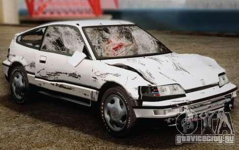 Honda CR-X 1991 для GTA San Andreas вид сверху
