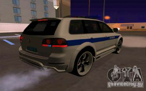 Volkswagen Touareg R50 для GTA San Andreas салон