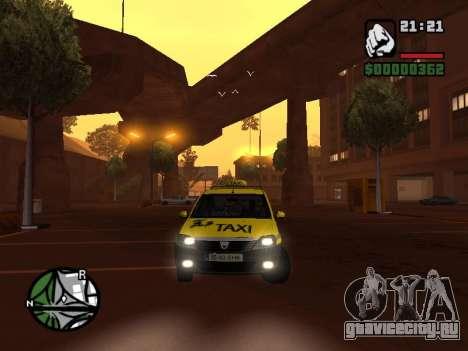 Dacia Logan 2008 LS Taxi для GTA San Andreas