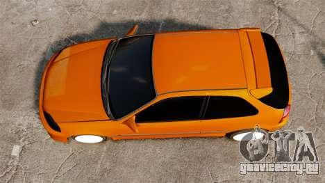 Honda Civic Gtaciyiz 2 для GTA 4 вид справа