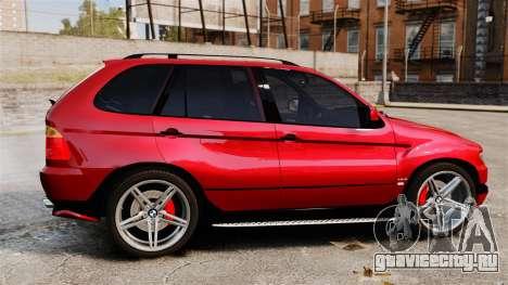 BMW X5 4.8iS v3 для GTA 4 вид слева