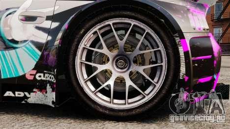 BMW Z4 M Coupe GT Miku для GTA 4 вид изнутри