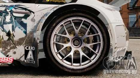 BMW Z4 M Coupe GT Black Rock Shooter для GTA 4 вид изнутри