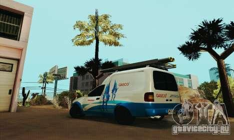 Chevrolet Combo Gasco для GTA San Andreas вид слева