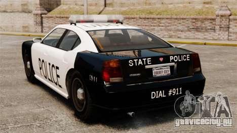 Полицейский Buffalo LAPD v1 для GTA 4 вид сзади слева