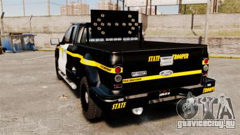 Ford F-150 v3.3 State Trooper [ELS & EPM] v1 для GTA 4 вид сзади слева