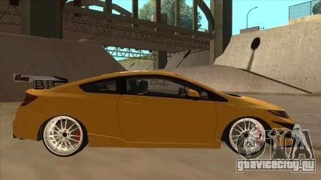Honda Civic SI 2012 для GTA San Andreas вид сзади слева