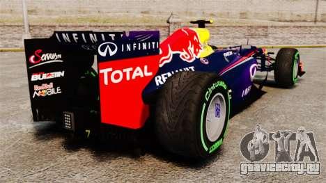 Болид Red Bull RB9 v3 для GTA 4 вид сзади слева