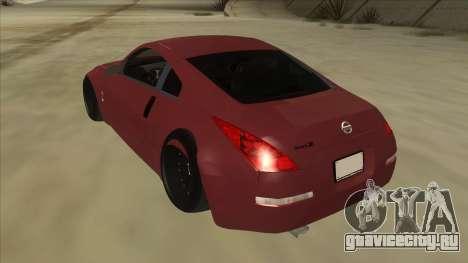 Nissan 350Z JDM для GTA San Andreas вид сзади