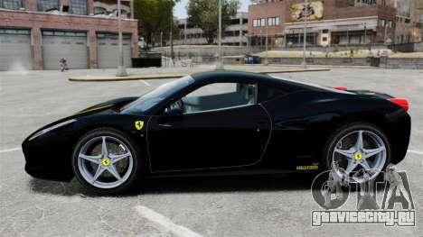 Ferrari 458 Italia 2010 Wheelsandmore 2013 для GTA 4 вид слева