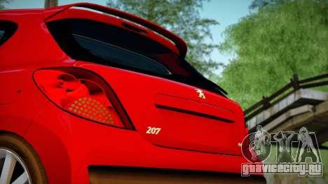 Peugeot 207 для GTA San Andreas вид сзади слева